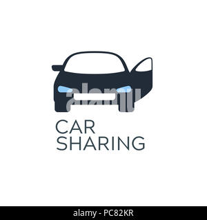 car sharing service icon design concept carsharing renting car