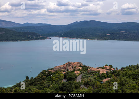 Sainte-Croix-du-Verdon, Alpes-de-Haute-Provence, Provence, France - Stock Photo