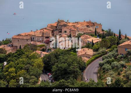 Sainte-Croix-du-Verdon, Alpes-de-Haute-Provence, Provence, France - Stock Photo