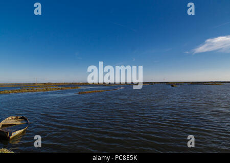 Delta de l'Ebre reservoir from Catalonia - Stock Photo