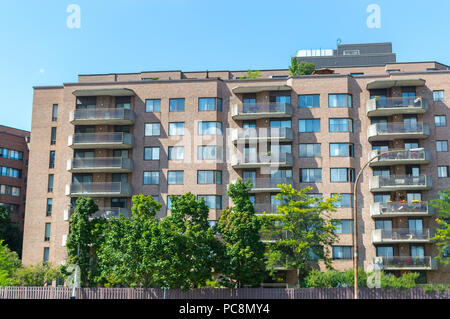 Modern condo buildings with huge windows in Montreal, Canada. - Stock Photo