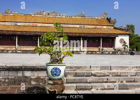 Thái Hòa Palace (Hall of Supreme Harmony), Imperial City, Hue, Viet Nam - Stock Photo