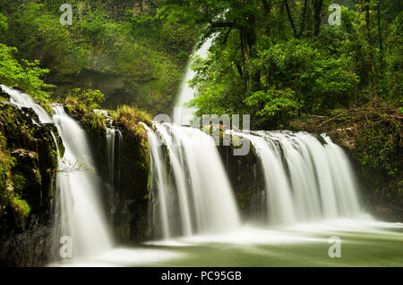 Nandroya Falls in the rainforest of Wooroonooran National Park. - Stock Photo