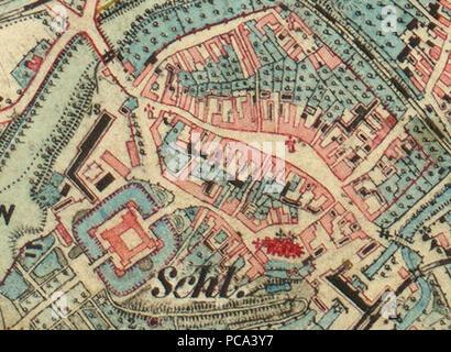 546 Schloss und Stadt Ebenfurth bei Wiener Neustadt - Stock Photo
