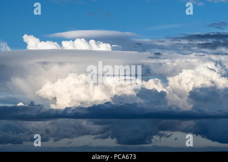 Cumulonimbus clouds. Mora County, NM, USA, by Dominique Braud/Dembinsky Photo Assoc - Stock Photo