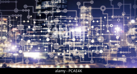 Wireless connection or networking concept as means of communicat - Stock Photo