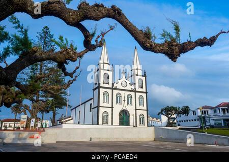 Church of Santa Maria, Island of Pico, Azores, Portugal, Atlantic, Europe - Stock Photo