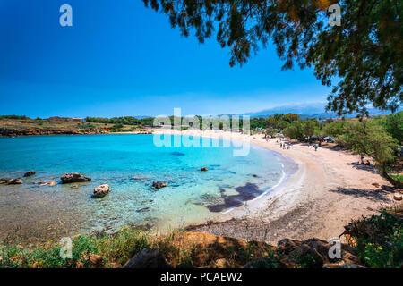 Beach Canteen Iguana, Crete, Greek Islands, Greece, Europe - Stock Photo