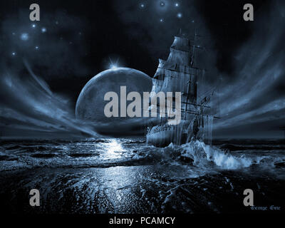 243 Ghost-ship-poster - Stock Photo