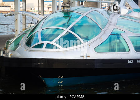 Himiko, an unique boat for tokyo bay cruise, Tokyo Bay, Odaiba, Tokyo, Japan - Stock Photo
