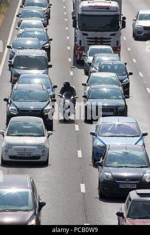 Heavy traffic again on the A14 near Cambridge on Saturday