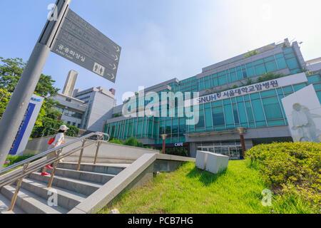 Seoul, South Korea - July 21, 2018 : Seoul National University Hospital building in Jongno-gu, Seoul city - Stock Photo