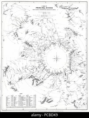 7 1834 S.D.U.K. Comparative Map or Chart of the World's Great Rivers - Geographicus - ComparativeRivers-sduk-1834 - Stock Photo
