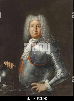 495 Portrait of a Knight of the Order of St Stephen, half length - Stock Photo