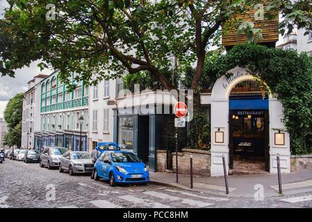 Le Moulin de la Galette Restaurant on Montmartre - Stock Photo
