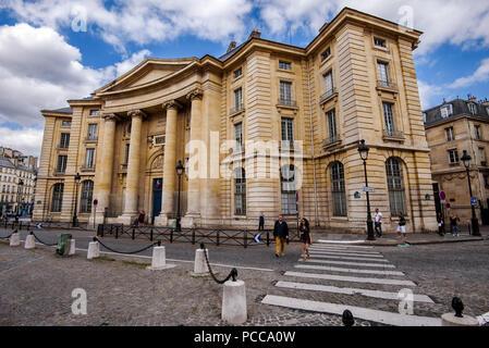 August, 11th, 2017 - Paris, France. Pantheon-Sorbonne University - Stock Photo