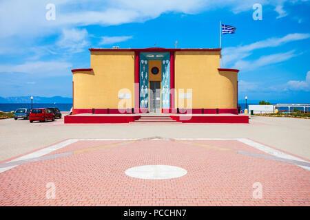 Rhodes aquarium building in Rhodes island in Greece - Stock Photo