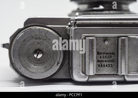 Vintage cameras from Russia and Germany - Stock Photo