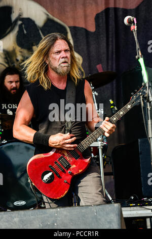 Mansfield, Ohio, July 15, 2018. Pepper Keenan, Corrosion of Conformity on stage at Inkarceration Fest 2018. Credit: Ken Howard/Alamy - Stock Photo