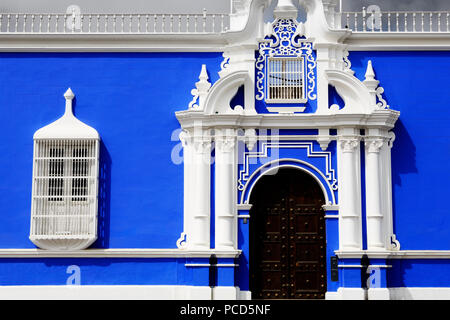 Museum of Religious Art, Plaza de Armas, Trujillo, Peru, South America - Stock Photo