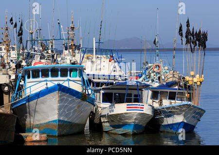 Fishing Boats, Puntarenas City, Costa Rica, Central America - Stock Photo