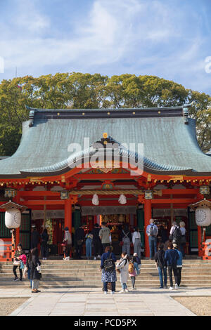 Ikuta Jinja shrine, Kobe, Kansai, Japan, Asia - Stock Photo