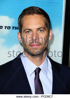File photo dated 07/05/13 of Paul Walker. The mother of The Fast And The Furious star has revealed he had planned to buy a Christmas tree and decorate it with his daughter on the evening he died in a car accident five years ago. - Stock Photo