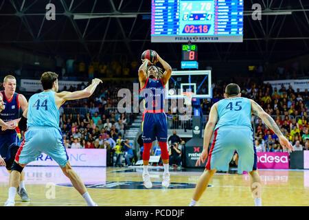 Andorra la Vella, Andorra. 20 de enero de 2018. Liga Endesa ACB. En el partido entre Morabanc Andorra BC vs FC Barcelona Lassa  de la Liga Endesa ACB  - Stock Photo