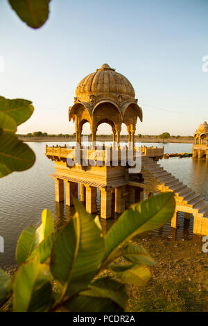 temple,jaisalmer,gadi sagar - Stock Photo