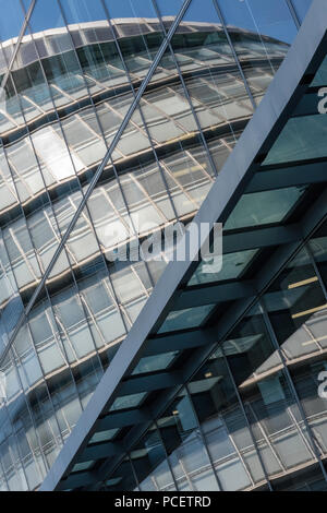 abstract viewpoint of the city hall, more london place, london. - Stock Photo