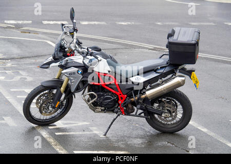 BMW Motorrad F800 GS Trophy on road/ off road Enduro Motor Cycle - Stock Photo