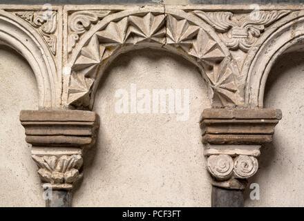 Brauweiler bei Pulheim, Abteikirche St. Nikolaus, Südliche Chorschranke, Detail - Stock Photo