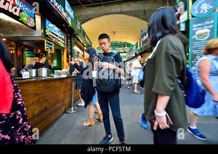 Borough Market, Southwark, London, England, UK. - Stock Photo