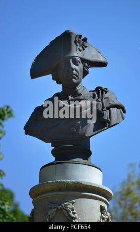 Denkmal, Friedrich der Grosse, Volkspark, Friedrichshain, Berlin, Deutschland - Stock Photo