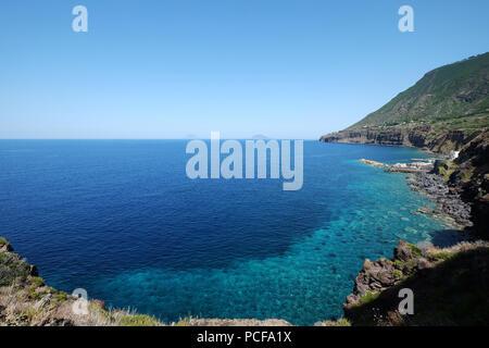 near Scalo Galera,Salina,(Malfa),Aeolian islands, Sicily, Italy - Stock Photo