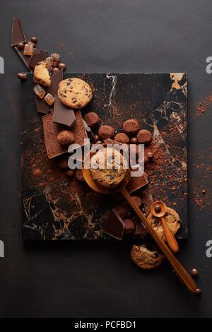 chocolate,chocolate biscuits - Stock Photo