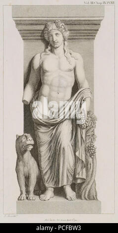 67 Bacchus with a Tiger See the Bacchae of Euripides - Stuart James & Revett Nicholas - 1794 - Stock Photo