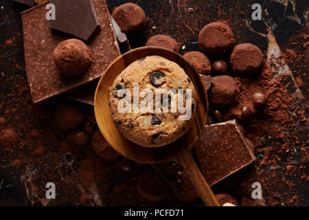chocolate chip cookie,cookie - Stock Photo