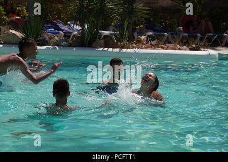 British tourists abroad in almeria, spain - Stock Photo