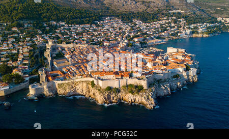 Old City Walls of Dubrovnik, Croatia - Stock Photo