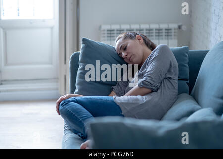 Young woman suffering from depression - Stock Photo