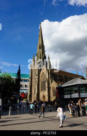 St Martin in the Bull Ring, Anglican christian parish church, Birmingham, England - Stock Photo