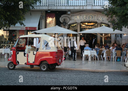 Lisbon. Café Nicolá, one of Lisbon's oldest and most famous restaurants and cafes. Rossio square. - Stock Photo