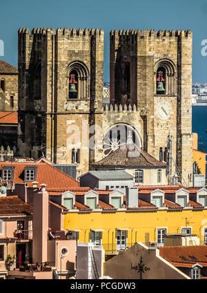 Lisbon. Cathedral Zé - Stock Photo