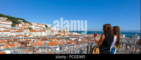 Lisbon. Stunning view from the Elevador de Santa Justa - Stock Photo