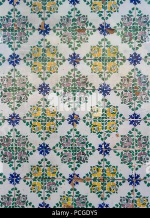 Lisbon. Typical tiles (Azulejos) - Stock Photo