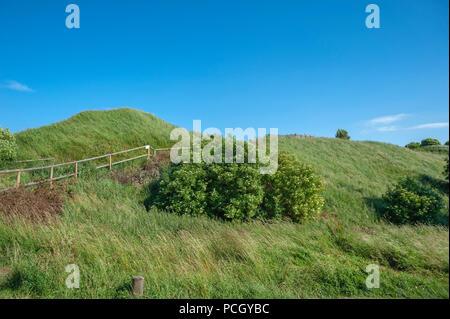 Slavic castle rampart at Cape Arkona, Putgarten, Rügen, Mecklenburg-Vorpommern, Germany, Europe - Stock Photo