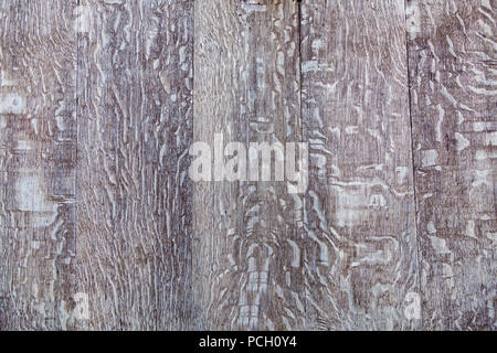 Wood texture. Close up of the vintage wooden texture of the old painted planks. - Stock Photo