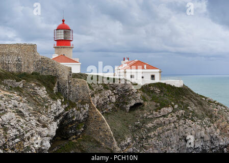 Portugal, region of the Algarve, Sagres: Cape St. Vincent, Cabo Sao Vicente - Stock Photo
