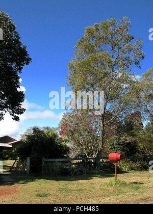 Farmstead near Dorrigo on Mountain Top Road, North Coast, New South Wales, Australia - Stock Photo